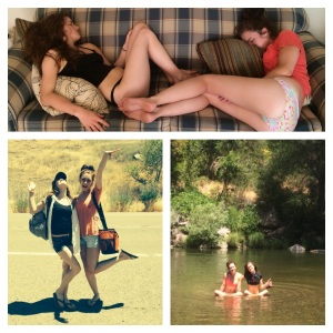 Her and I are so related. My cousin Kylee and I on our river day. We got rather tuckered out. LOL